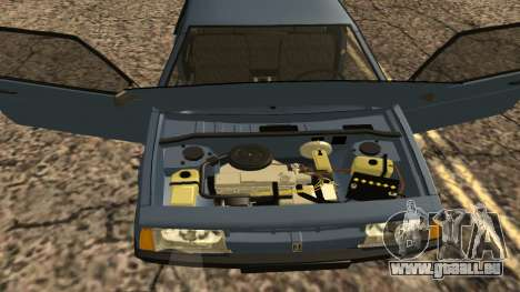 VAZ 2108 pour GTA San Andreas vue intérieure
