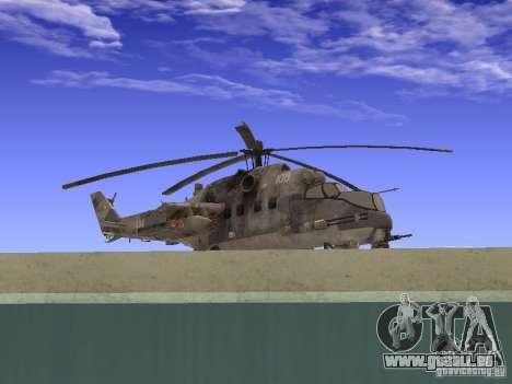 Mil Mi-24 von COD MW 2 für GTA San Andreas zurück linke Ansicht
