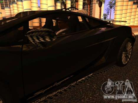 Lamborghini Gallardo Underground Racing pour GTA San Andreas vue de dessous