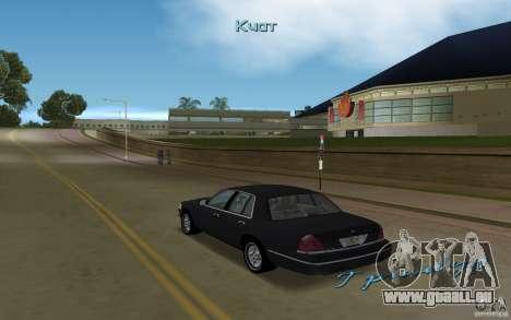 Ford Crown Victoria pour une vue GTA Vice City de la droite