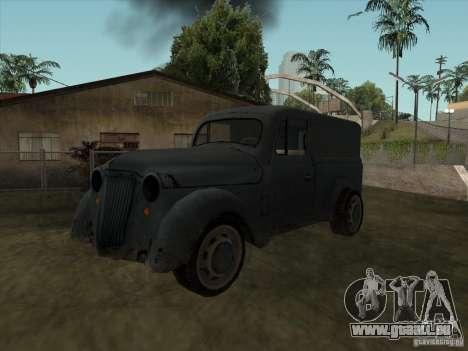 Das Fahrzeug des zweiten Weltkrieges für GTA San Andreas