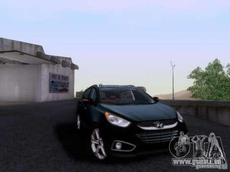 Hyundai ix35 für GTA San Andreas Rückansicht