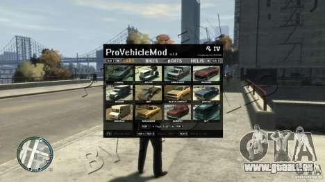 ProVehicleMod v.1.0.1 pour GTA 4