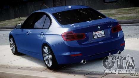 BMW 335i E30 2012 Sport Line v1.0 für GTA 4 hinten links Ansicht