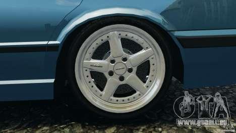BMW E34 V8 540i pour GTA 4 vue de dessus