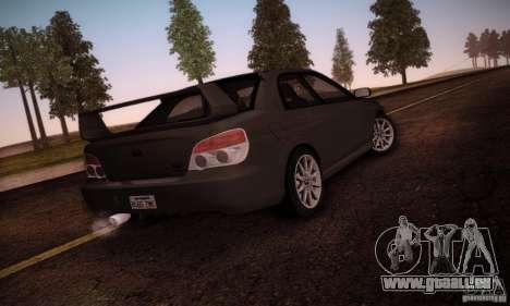 Subaru Impreza WRX STI pour GTA San Andreas vue intérieure
