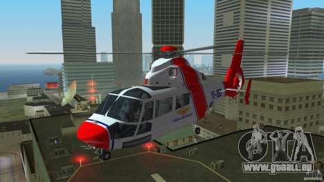 Eurocopter As-365N Dauphin II für GTA Vice City linke Ansicht