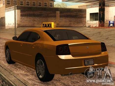 Dodge Charger STR8 Taxi für GTA San Andreas rechten Ansicht