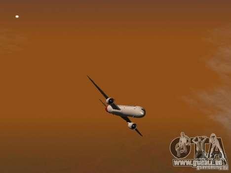 Boeing 787 Dreamliner Qantas für GTA San Andreas obere Ansicht