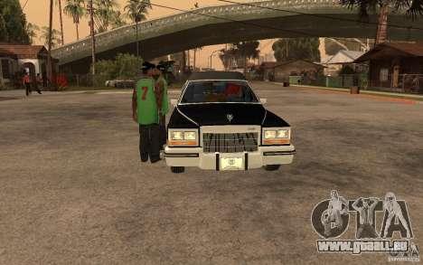 Cadillac Fleetwood Hearse 1985 für GTA San Andreas rechten Ansicht