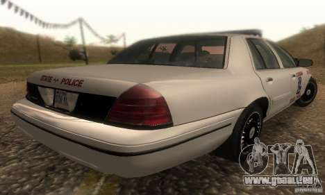 Ford Crown Victoria Louisiana Police für GTA San Andreas linke Ansicht