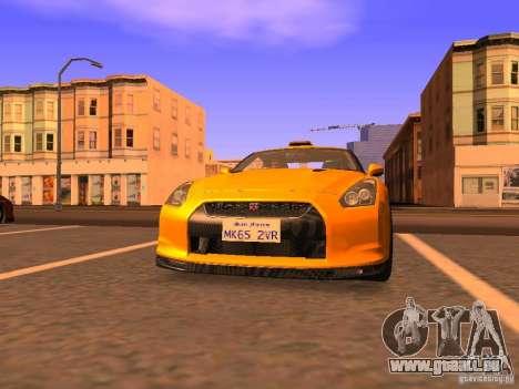 Nissan GT-R SpecV Black Revel pour GTA San Andreas laissé vue
