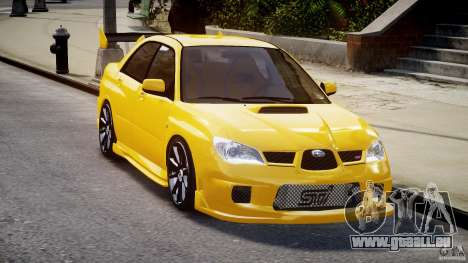 Subaru Impreza STI pour GTA 4 Vue arrière