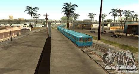 U-Bahn Typ Igel für GTA San Andreas zurück linke Ansicht