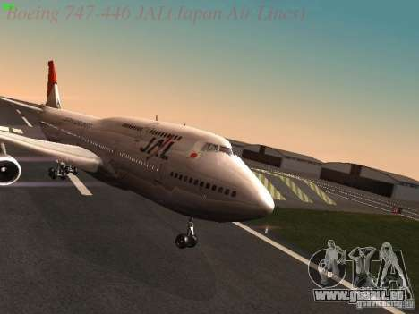 Boeing 747-446 Japan-Airlines pour GTA San Andreas