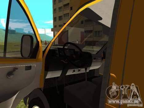 GAZ SPV ruta-16 pour GTA San Andreas vue arrière
