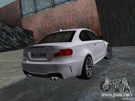 BMW 1M Coupe RHD pour une vue GTA Vice City de la droite