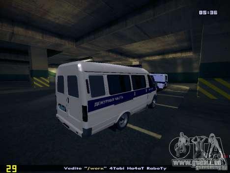 Gazelle 2705 Polizei für GTA San Andreas zurück linke Ansicht