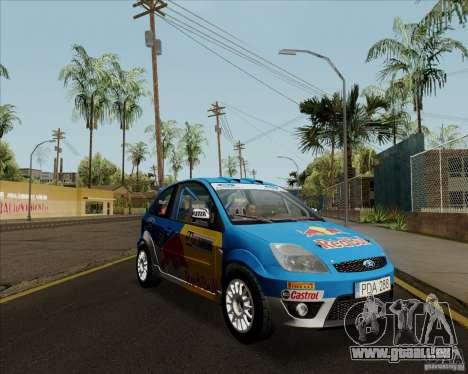 Ford Fiesta ST Rally pour GTA San Andreas sur la vue arrière gauche