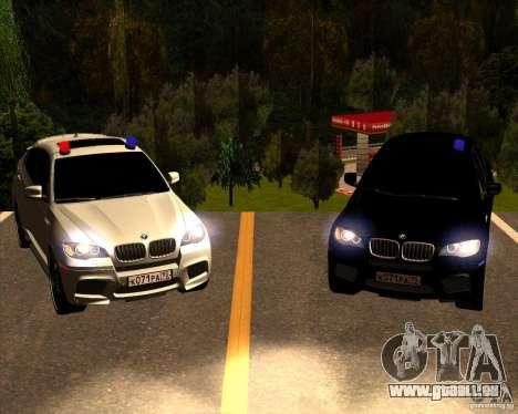 BMW X6 M E71 für GTA San Andreas Unteransicht