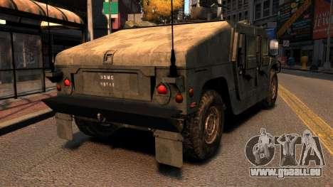 HMMWV M1114 für GTA 4 hinten links Ansicht