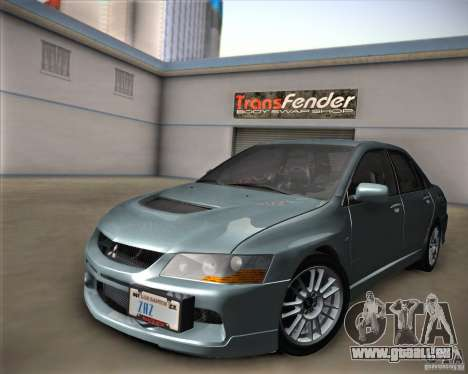 Mitsubishi Lancer Evolution IX Tunable pour GTA San Andreas vue de droite