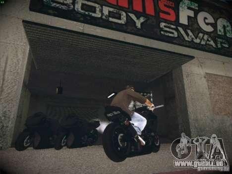 Aprilia RSV4 pour GTA San Andreas sur la vue arrière gauche