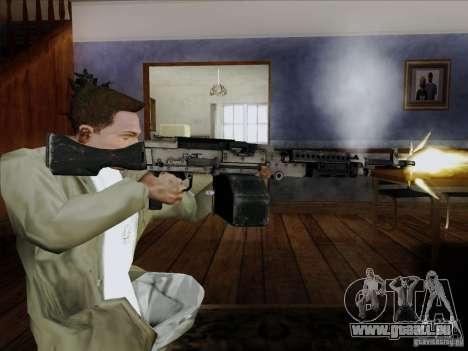 M240B pour GTA San Andreas troisième écran