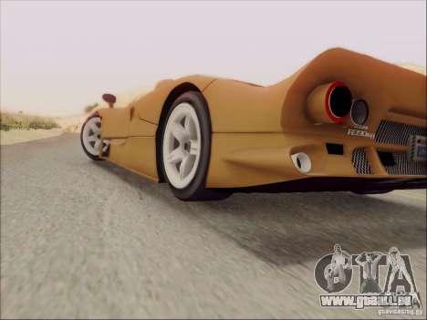 Nissan R390 Road Car v1.0 pour GTA San Andreas vue intérieure