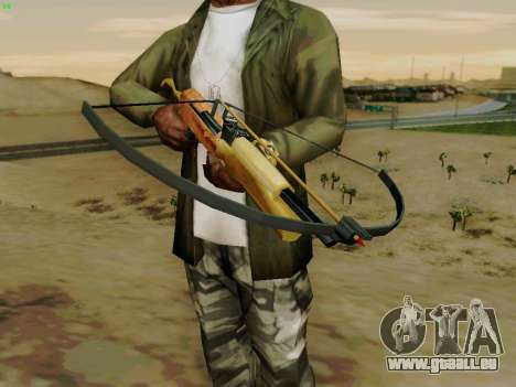 Une arbalète de travail avec des flèches pour GTA San Andreas