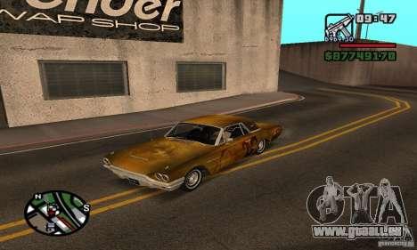 Ford Thunderbird 1964 für GTA San Andreas Rückansicht