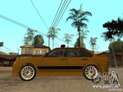 VAZ 2115 Tuning de voiture de Police pour GTA San Andreas laissé vue