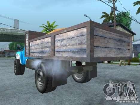 Camion à ordures ZIL 130 pour GTA San Andreas laissé vue
