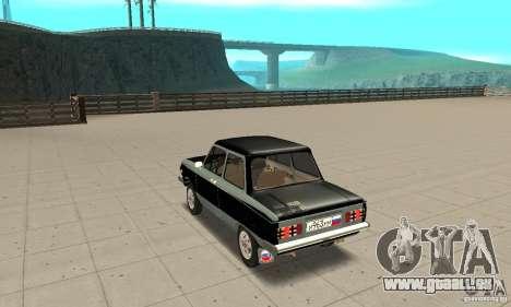 ZAZ 968 m ver 1.0 pour GTA San Andreas sur la vue arrière gauche