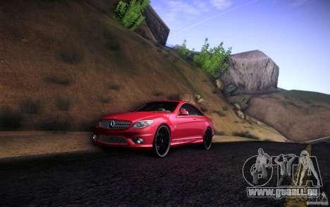 Mercedes Benz CL65 AMG pour GTA San Andreas sur la vue arrière gauche