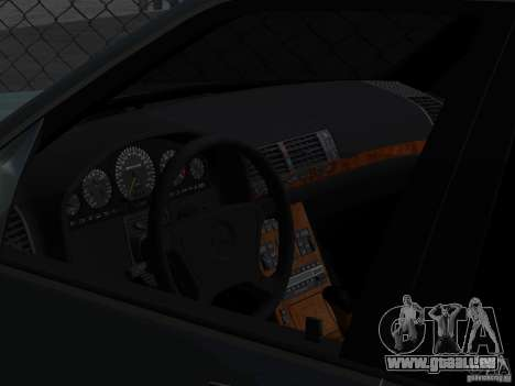 Mercedes-Benz W124 pour GTA San Andreas vue intérieure