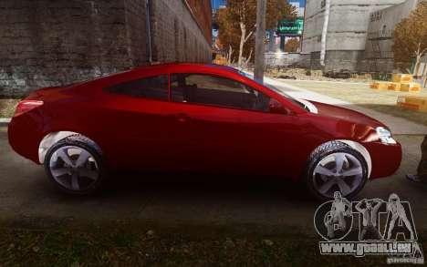 Pontiac G6 pour GTA 4 est une vue de l'intérieur
