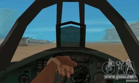 MiG-31 Foxhound für GTA San Andreas Rückansicht