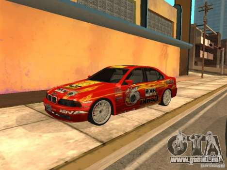 BMW 5-er E39 v2 pour GTA San Andreas laissé vue