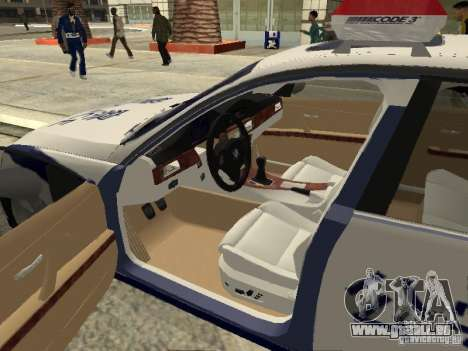 BMW 3 Series China Police pour GTA San Andreas vue intérieure