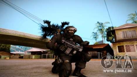 Turcotte Rapid SMG pour GTA San Andreas deuxième écran
