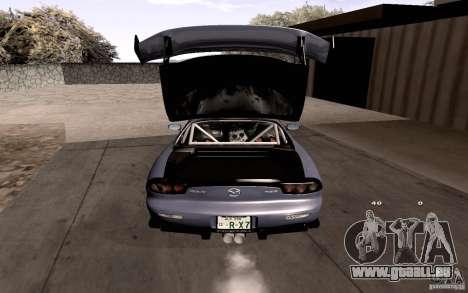 Mazda RX-7 Hellalush pour GTA San Andreas moteur