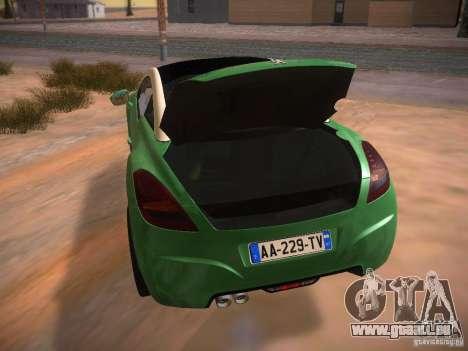 Peugeot RCZ 2010 für GTA San Andreas Seitenansicht