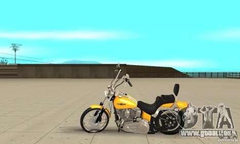 Harley Davidson softail Skin 1 pour GTA San Andreas laissé vue