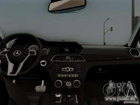 Mercedes Benz C63 AMG Coupe Presiden Indonesia für GTA San Andreas Innenansicht