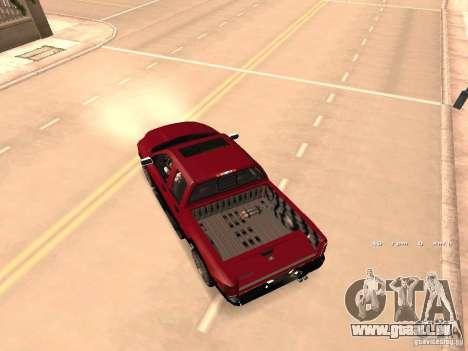 Dodge Ram 2010 für GTA San Andreas Innenansicht