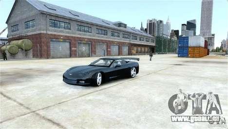 Chevrolet Corvette C6 Convertible v1.0 für GTA 4 Seitenansicht