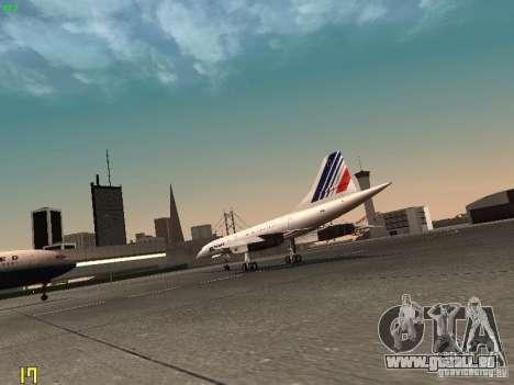 Aerospatiale-BAC Concorde Air France für GTA San Andreas rechten Ansicht