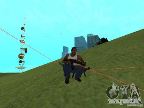 Laser Weapon Pack für GTA San Andreas sechsten Screenshot