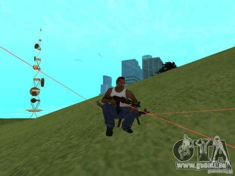 Laser Weapon Pack für GTA San Andreas sechsten Screenshot